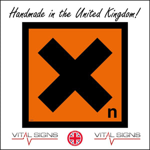 HA026 Toxic Harmful Hazard Sign Sign with Cross