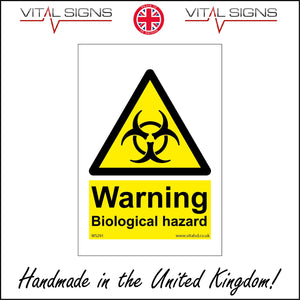 WS291 Warning Biological Hazard Sign with Triangle Bio Hazard