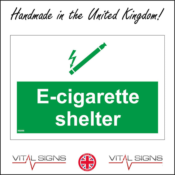 NS066 E-Cigarette Shelter Sign with Cigarette Wand Electricity