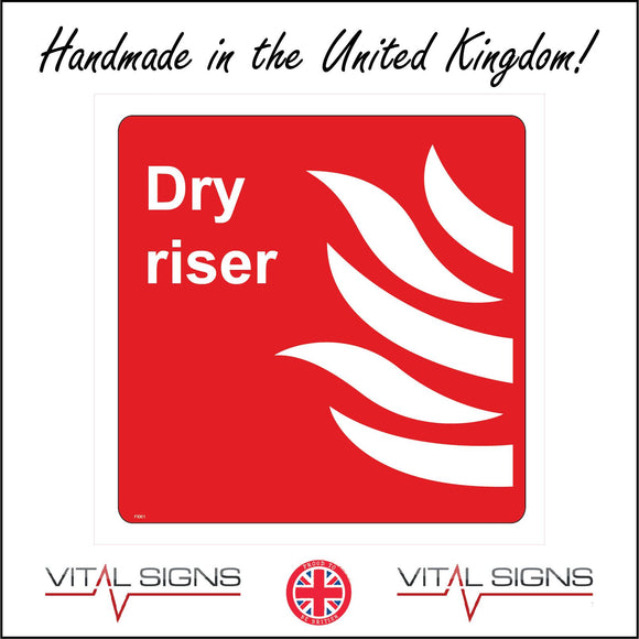 FI061 Dry Riser Sign with Fire