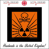 HA025 Radioactive Hazard Sign Sign with Skull & Cross Bones Radiation