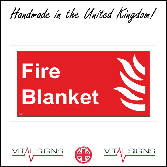 FI007 Fire Blanket Sign with Fire