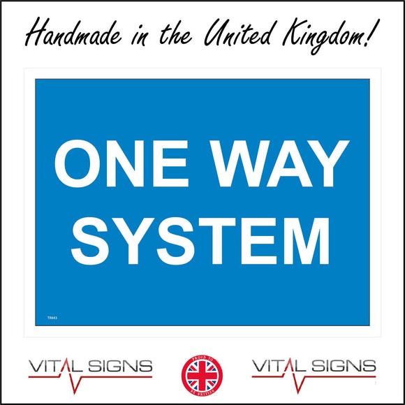 TR443 One Way System People Vehicles Sign