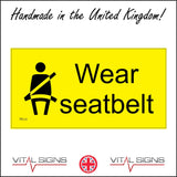 TR121  Wear Seatbelt Sign with Person Seat Belt