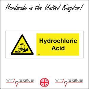 WS661 Hydrochloric Acid Sign with Triangle Hands Test Tubes