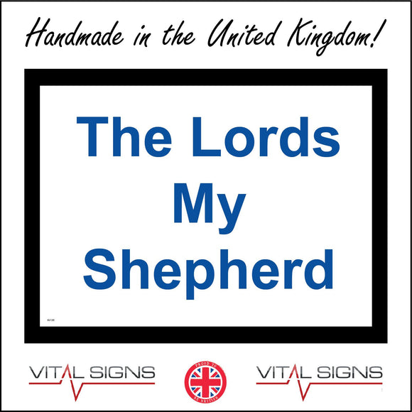 IN136 The Lords My Shepherd Sign