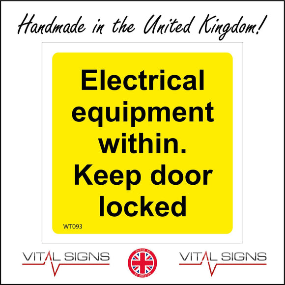 WT093 Electrical Equipment Within Keep Door Locked Office Unit Site Factory Warehouse