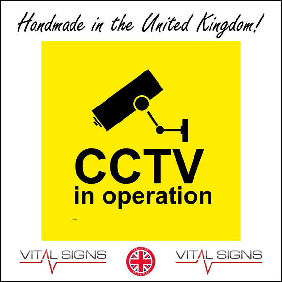 CT040 Cctv In Operation Sign with Camera