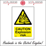 WS496 Caution Explosion Risk Sign with Triangle Explosion