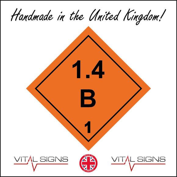 HA002 1.4B Hazard Sign Sign