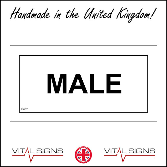 GE387 Male Toilet Mens Gents Boys Sign