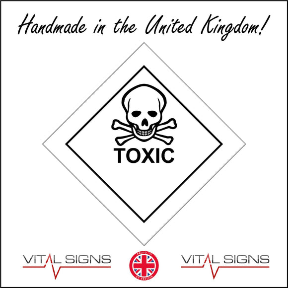 HA067 Toxic Sign with Skull & Cross Bones
