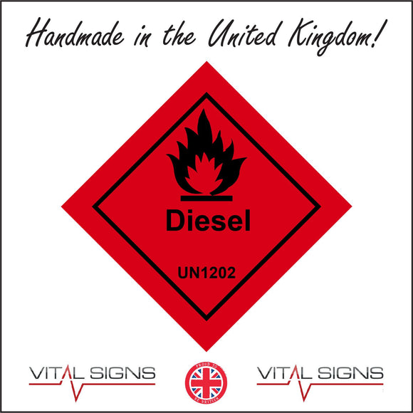 HA117 Diesel Un1202 Sign with Fire