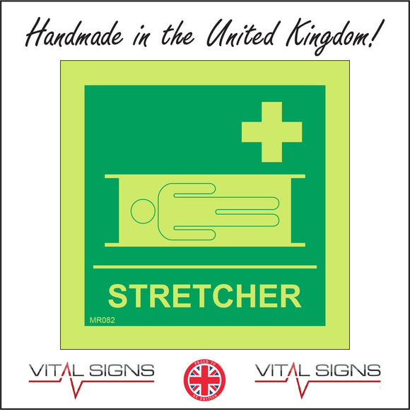 MR082 Stretcher Sign with Cross Stretcher Person