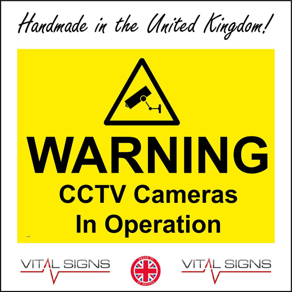 CT019 Warning Cctv Cameras In Operation Sign with Camera Triangle