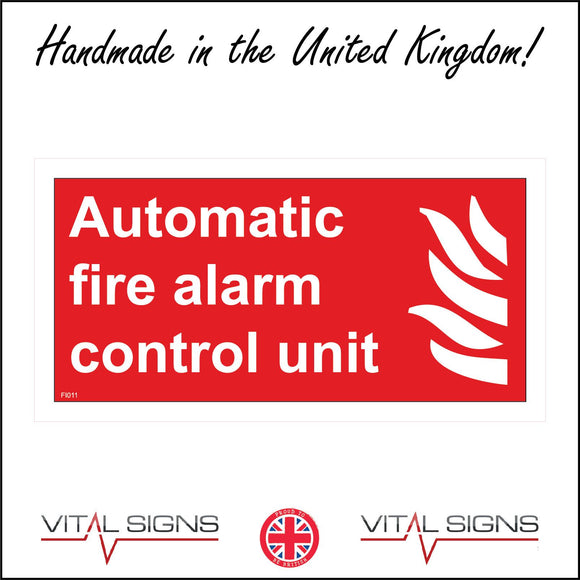 FI011 Automatic Fire Alarm Control Unit Sign with Fire