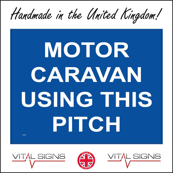 VE209 Motor Caravan Using This Pitch Sign