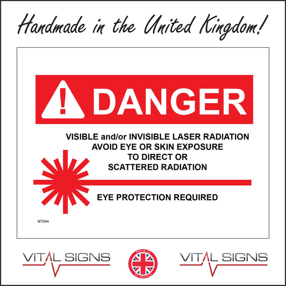 WT094 Danger Visible Invisible Radiation Hospital Medical Surgery Workplace Doctor