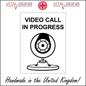 GE824 Video Call In Progress Sign with Camera