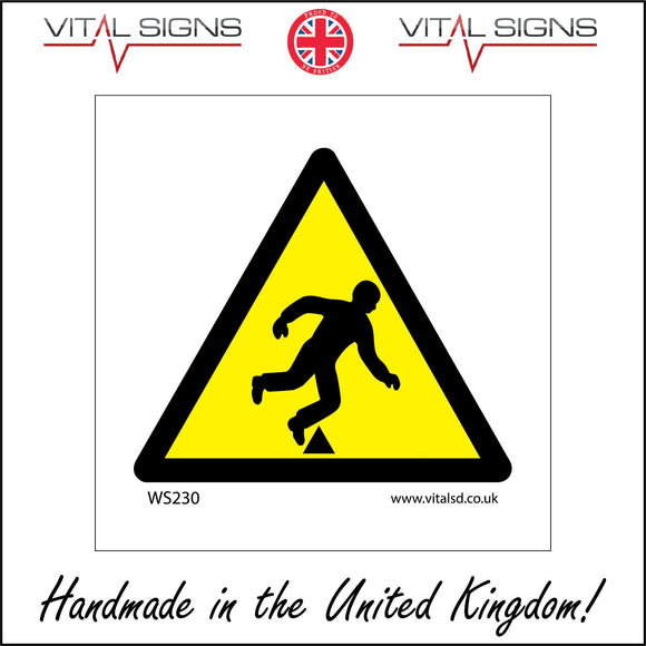 WS230 Trip Hazard Step Sign with Triangle Body Falling