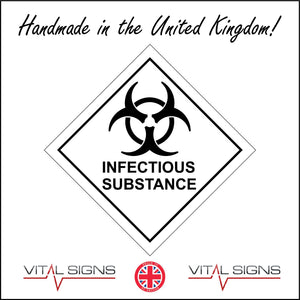 HA057 Infectious Substance Sign with Hazard