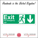 FS023 Exit For Emergency Use Sign with Running Man Door Arrow