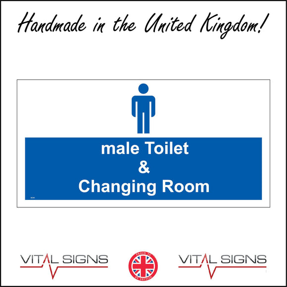 GE365 Male Toilet And Changing Room Sign