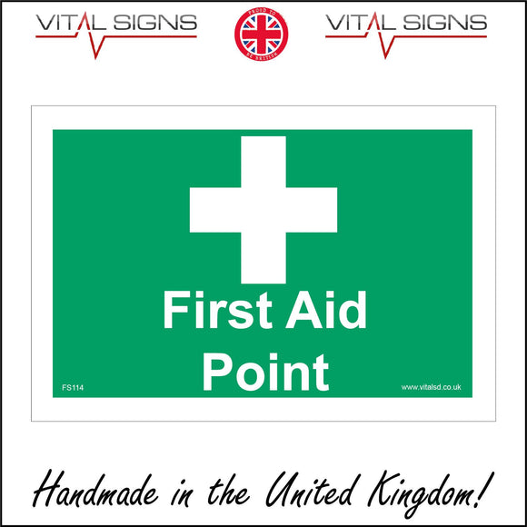 FS114 First Aid Point Sign with Cross