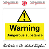 WS150 Warning Dangerous Substance Sign with Triangle Exclamation Mark
