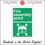 FS108 Fire Assembly Point Sign with Arrows People