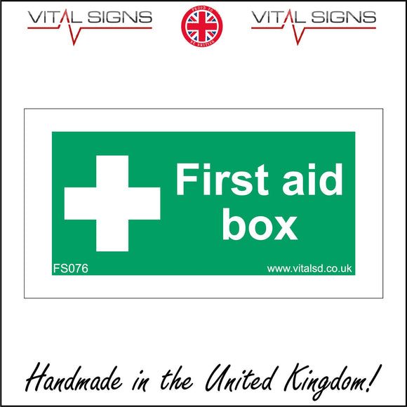 FS076 First Aid Box Sign with Cross