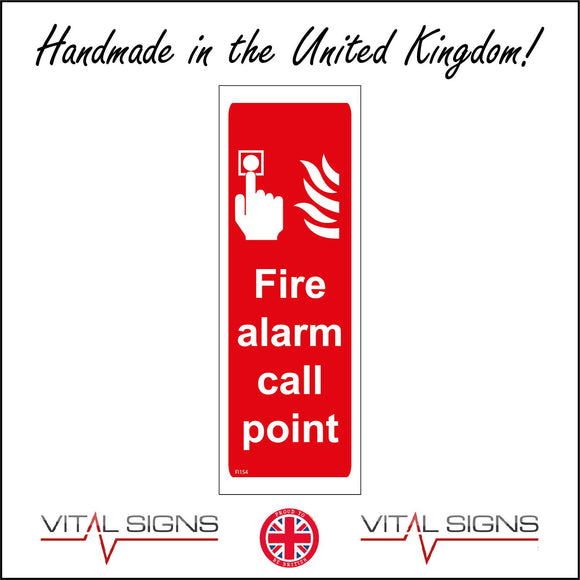 FI154 Fire Alarm Call Point Sign with Fire Switch Hand