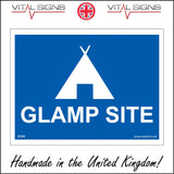 VE206 Glamp Site Sign with Tent