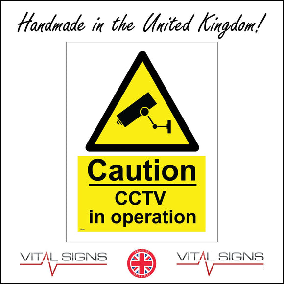 CT038 Caution Cctv In Operation Sign with Camera Triangle