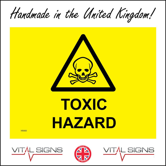 HA083 Toxic Hazard Sign with Skull & Cross Bones
