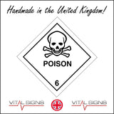 HA045 Poison Sign with Skull & Cross Bones