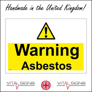 WS020 Warning Asbestos Sign with Triangle Exclamation Mark