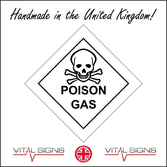 HA063 Poison Gas Sign with Skull & Cross Bones