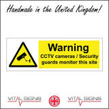 CT021 Warning Cctv Cameras/Security Guards Monitor This Sign with Camera Triangle