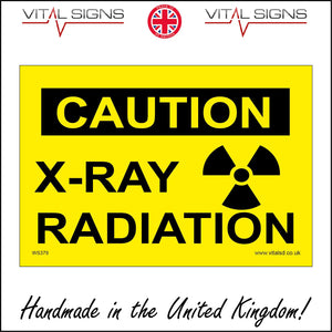 WS379 Caution X-Ray Radiation Sign with Radiation