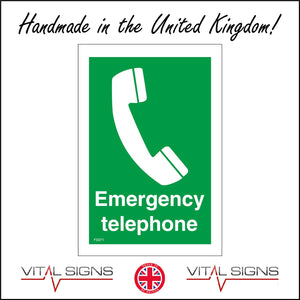 FS071 Emergency Telephone Sign with Telephone
