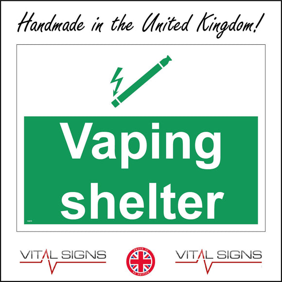NS074 Vaping Shelter Sign with E-Cigarette Lightning Bolt
