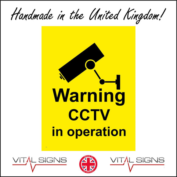 CT023 Warning Cctv In Operation Sign with Camera