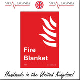 FI087 Fire Blanket Sign with Fire