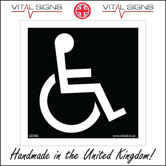 GE060 Wheelchair Sign with Disabled Logo