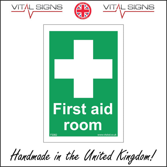 FS082 First Aid Room Sign with Cross
