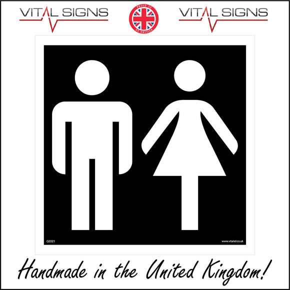 GE021 Ladies/Gents General Sign Sign with Man Woman