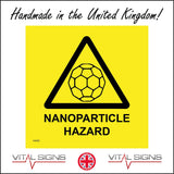 HA082 Nanoparticle Hazard Sign with Triangle Particle
