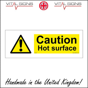 WS191 Caution Hot Surface Sign with Triangle Exclamation Mark