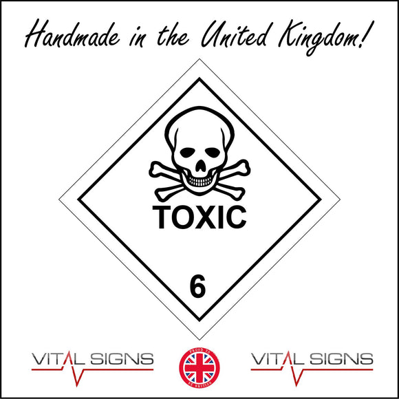 HA048 Toxic Sign with Skull & Cross Bones